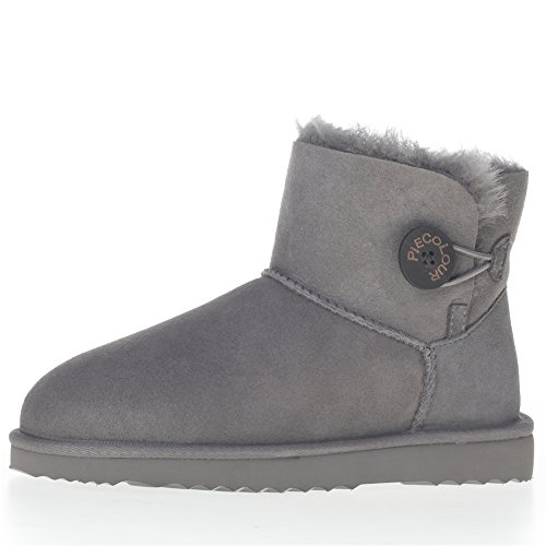 Fur boots sheepskin leather raw wool lightweight outsole ...