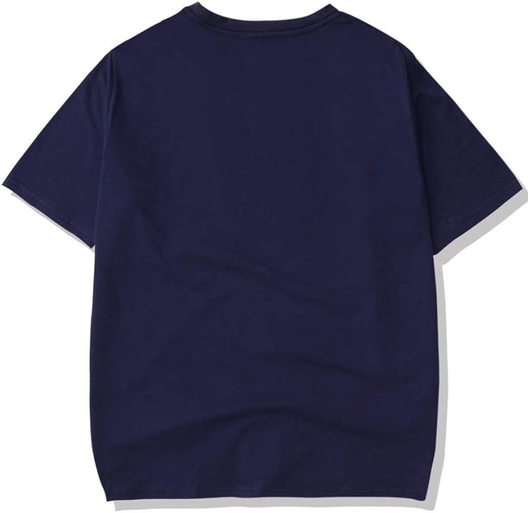 HAOSHENG Donna Maglietta NASA Stampato Galaxy Planet T-Shirt Unita con Fascia da Braccio Estate Manica Corta