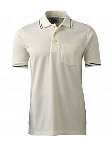 CHAMPRO Umpire Polo Shirt, Cream, Small
