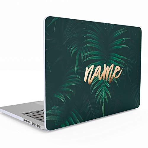 - Personalised Custom Design Green Tropical Jungle Palm Leaf Personalized Text Name or Surname MacBook Pro 15 Inch Case with Touch Bar Model: A1707 / A1990, Release 2016-2018 Hard Case Cover