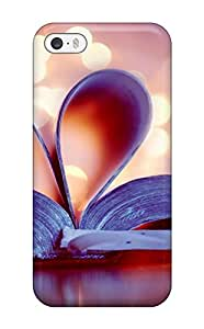For ObidoVA7033lLKaw Heart Book Bokeh Love Protective Case Cover Skin/iphone 5/5s Case Cover(3D PC Soft Case)