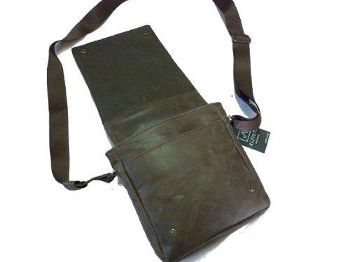 Borsa borsello tracolla uomo pelle artigianato italiano L22xH26xP5 cm mod : York mini brown