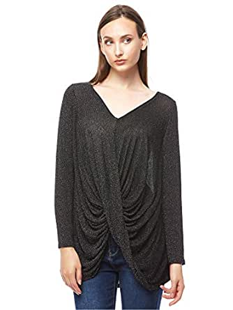 Wal G Sparkle Top for Women - Black