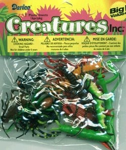 """Darice 16 pc - 2"""" Long Plastic Bugs and Arachnids - for Playtime, Party Décor, Cupcake Toppers, Sensory Bins - Use in The Bath or Sandbox-Kids Love These Colorful Insects -  DARCB, 1029-03"""
