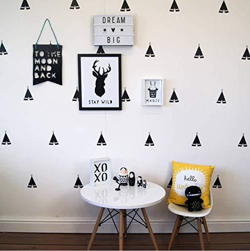 (Wall Stickers Wallsticker Removable Teepee Kids Room Decor 40 Pcs 8X7Cm)