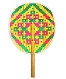 hookah pens starter kit - Asian Art Thai Weave Pattern Bamboo Wooden Craft Hand Handle Fan Collectibles