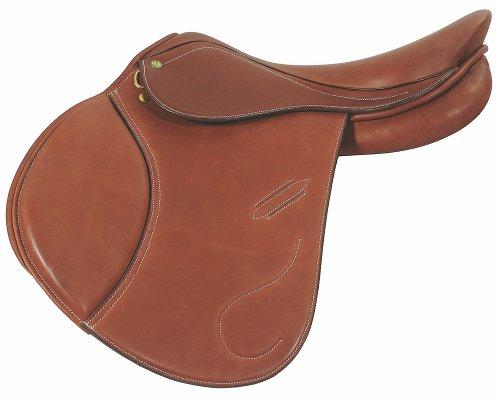 - Henri de Rivel Pro Revelation Jumping English Saddle | Horse Riding Equestrian Saddle - Oak Bark Smooth - 17.5 Wide
