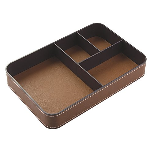 Leather 2 Letter Trays - 6