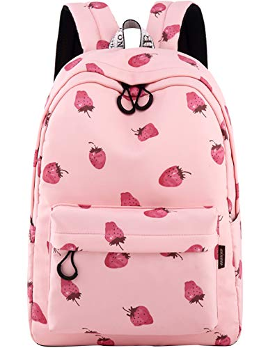 School Bookbags for Girls, Cute strawberry Backpack College Bags Women Daypack Travel Bag by Mygreen - Cute With Girls