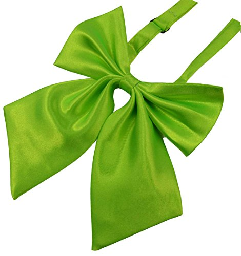 SYAYA Ladies girl Party Adjustable Pre-tied womens Bow Tie Solid Color Bowties for Women ties WLJ06 (light green) -