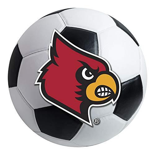 Louisville Football Rug - FANMATS NCAA University of Louisville Cardinals Nylon Face Soccer Ball Rug