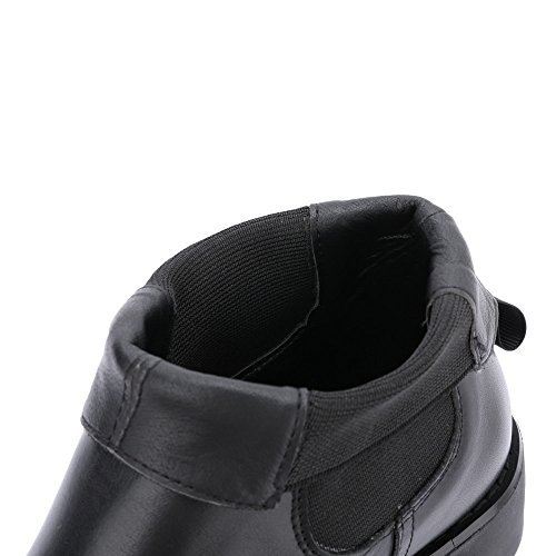 Elegantes De Annieshoe Vestir Mujer Otoño Tacon Botas Bottines Chelsea Negro Plataforma Bwqd4xOqA