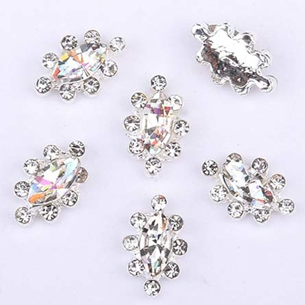 (Alloy Nail Charms, Nail Art Rhinestones, 10Pcs Crystal Strass Nail Stones Alloy 3D Decorations Sparkle Nail Charms Rhinestones For Designer Jewelry Accessories - Style 29)