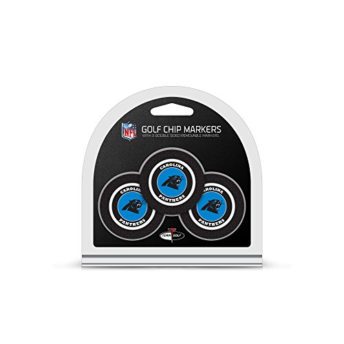 NFL Carolina Panthers 3 Pack Golf Chip Ball Markers