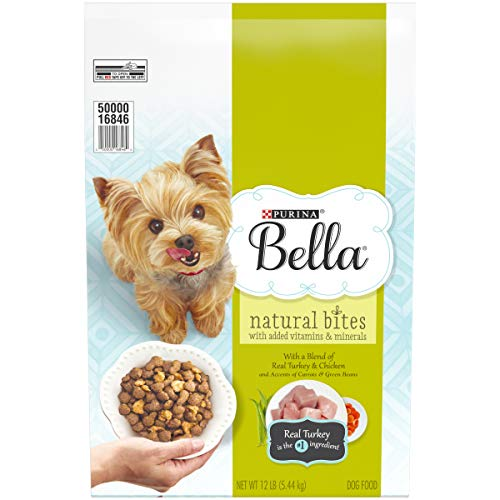 Purina Bella Natural Small Breed Dry Dog Food; Natural Bites With Real Turkey & Chicken - 12 lb. Bag (Best Dog Food For Pugs)