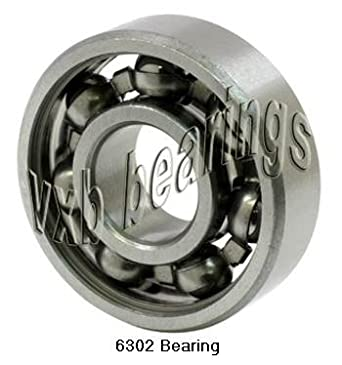 4x 6302-2RS Ball Bearing 15mm x 42mm x 13mm Rubber Sealed Premium RS 2RS NEW