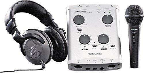 [해외]Tascam 트랙 팩 T1 US122L 사운드 카드 (Micrphone 팩 포함)/Tascam Track Pack T1 US122L Soundcard with Micrphone Pack