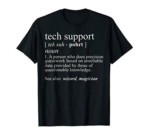 Tech Support Definition Shirt, Funny Cute Computer Nerd Gift