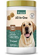 All-in-One Dog Soft Chew Supplement, Skin & Coat Health, Joint Support, Digestive Health, Vitamin and Mineral Support, Overall Health Boost For Your Dog, Made by NaturVet