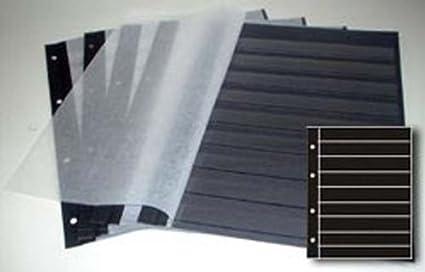 10 Blatt A4 Schwarz Streifen auf Weiß Karte 240g Neu