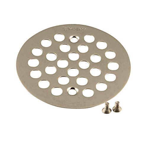 Moen 101664BN Kingsley 4-1/4-Inch Screw-In Shower Strainer, Brushed Nickel (Nickel Shower Strainer)