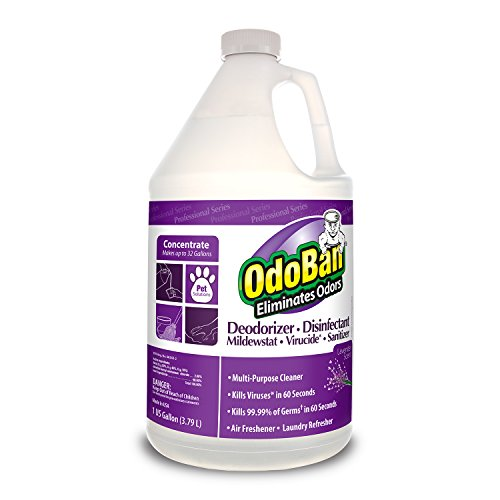OdoBan 911162-G Disinfectant Odor Eliminator and All Purpose Cleaner Concentrate, Lavender Scent, 128 oz by OdoBan (Image #5)