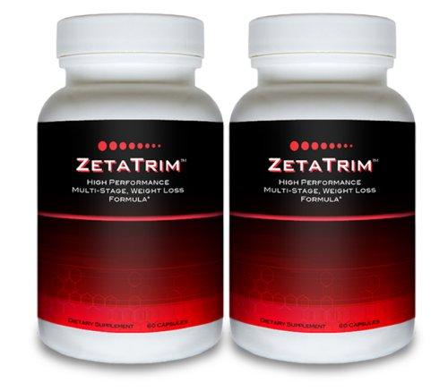 ZetaTrim (2 bouteilles) - Supplément haute performance multi ardente étape Fat. Meilleur suppression de l'appétit, perte de poids, Diet Pill Minceur, Slim Down rapidement