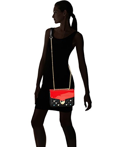 Crossbody Jewels Black Johnson Shoulder Women's Black Red Betsey Bag Quilted wIfvEBETq