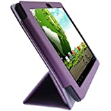 iShoppingdeals - for Le Pan II & S Tablet 9.7-Inch PU Leather Folio Case Cover, Purple
