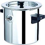 JVL MB-2-Double Bakelite Handle Stainless Steel Double Wall Milk Boiler Storage - 2 Litre