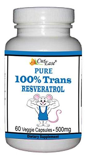 CurEase 100% Trans Resveratrol Capsules 500mg 60 (99 Trans Resveratrol)