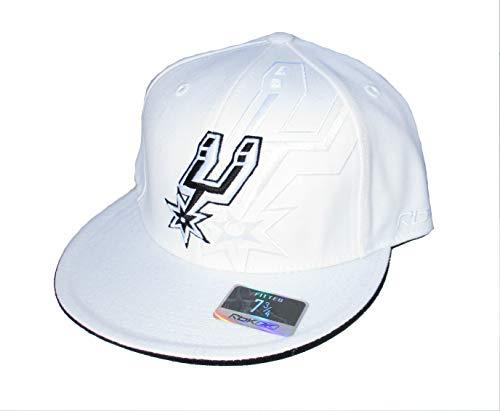 Reebok San Antonio Spurs Double Logo Fitted Size 7 3/4 Hat Cap - White (Spurs Reebok Antonio San)