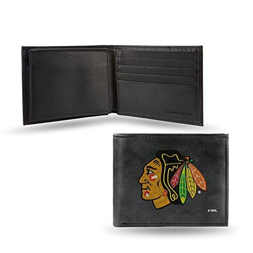 - Rico Industries NHL Chicago Blackhawks Embroidered Leather Billfold Wallet