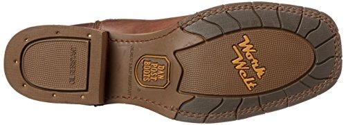Dan Post Mens Lindbergh Western Boot Dark Brown / Saddle Tan