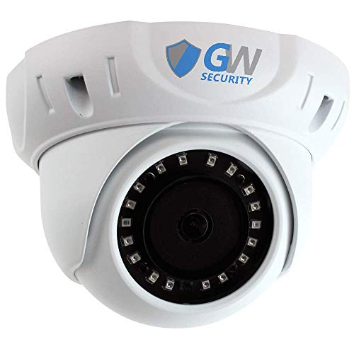 - GW Security 8MP (3840x2160) Sony CMOS 3.6mm Wide Angle Outdoor Indoor Onvif H.265 4K 2160p PoE IP Dome Camera (White)