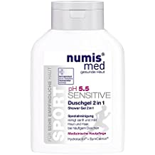 2 in 1 Sport Shampoo & Shower Gel For Dry & Sensitive Skin Soap & Paraben Free Imported From Germany Dermatologist Tested 5 Star Guarantee Vegan Low ph 5.5 All In One Cleanser 200 ml by Numis Med