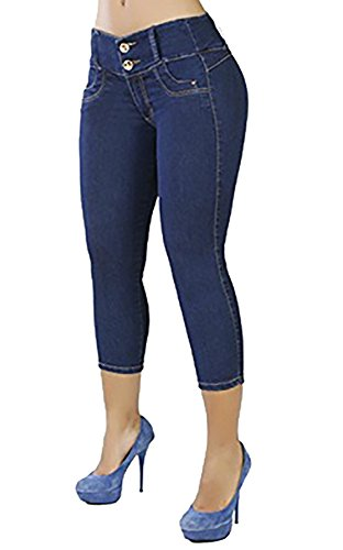 Blue Denim Capri Pants - 5