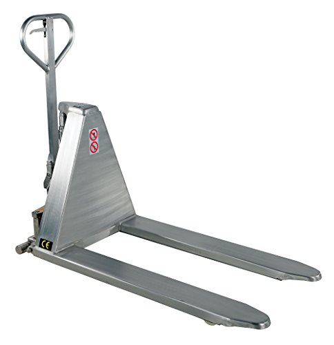 Stainless Steel Hand Jack : Fork width hand pump stainless steel tote lifter