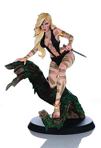 "Women of Dynamite: Sheena Queen of The Jungle J. Scott Campbell ""Night Stalker"" Variant Statue, Multicolor"