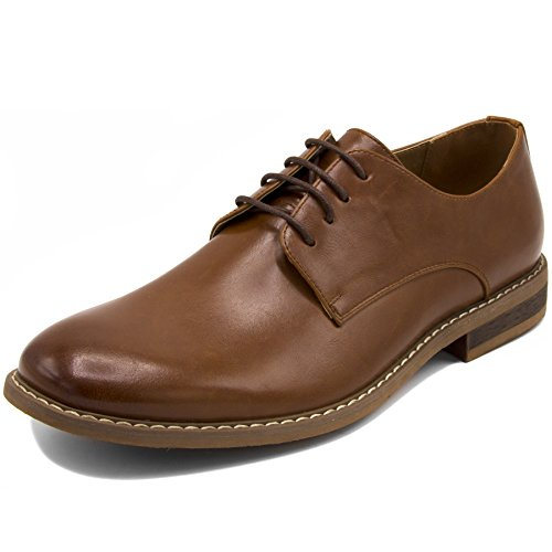 Nautica Men's Dress Shoes, Lace Up Oxford, Slip On Moc Toe Loafer-Harbor-Tan Smooth-9.5 ()