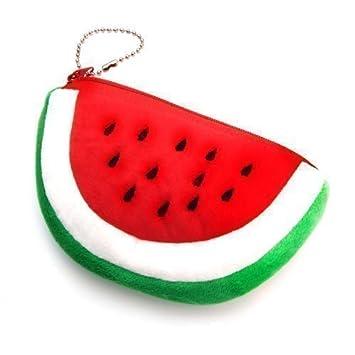 Wassermelonen Tasche als Kosmetiktasche oder Geldbörse in Form ...