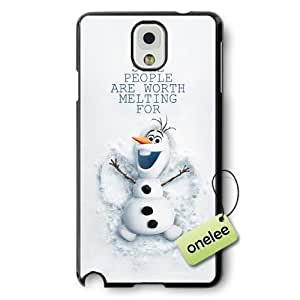 Disney Frozen Quotes Hard Plastic Phone Case Cover for Samsung Galaxy Note 3 - Black