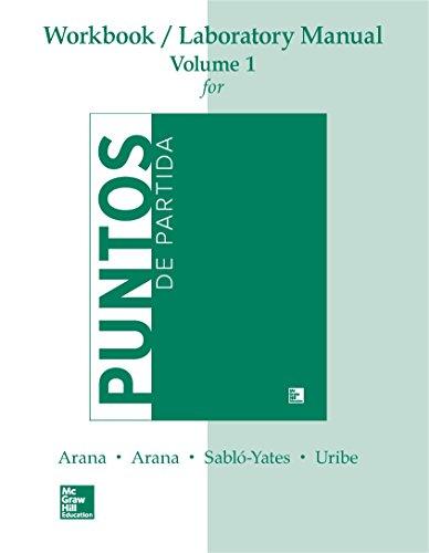 WORKBOOK /LAB MANUAL VI FOR PUNTOS DE PARTIDA: AN INVITATION TO SPANISH (Punto De Partida)