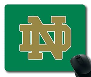 Notre Dame Football on Green Rectangle Mouse Pad by eeMuse