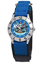 Marvel Kid's MA0103-D2763-BlueVelcro Marvel Super Hero Squad Classic Time Teacher Watch