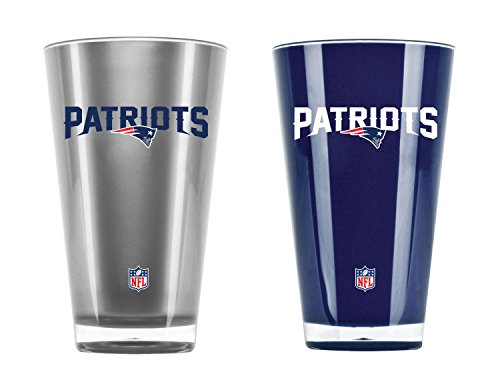 NFL New England Patriots 20oz Insulated Acrylic Tumbler Set of 2 ()