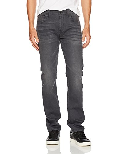 7 For All Mankind Men's Black and Grey Jeans Straight Leg Pant, Portland, 31