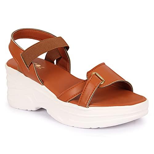 Vendoz Women Black Sandal Wedges