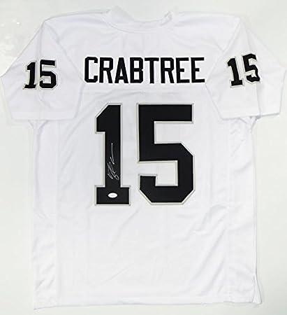 Michael Crabtree Autographed White Pro Style Jersey - JSA Witness ...