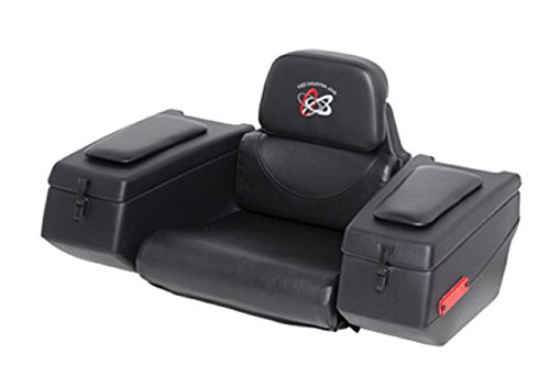 WES Industries AR-36 Rear Cargo Box Seat with Padded Arm Rests for Single Seat ATV 123-0015 ()